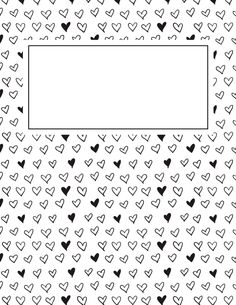 Free printable black and white heart binder cover template. Download the cover in JPG or PDF format at http://bindercovers.net/download/black-and-white-heart-binder-cover/