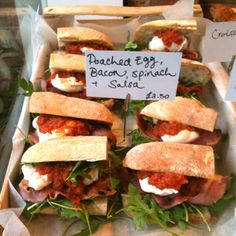 Close up of that deli case labels....oh those sandwiches...