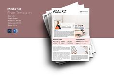 Media Kit for Bloggers , Influencer Media Kit, Fashion Blogger Media Press Kit Template, Photoshop and MS Word Template | Instant Download