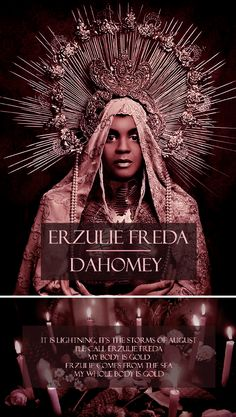 """avvoltoio: """" MYTHOLOGY MEME Erzulie Freda Dahomey, Lwa of Love and Beauty """"In Haitian Vodou, Eruzulie Freda is the lwa of Love, Beauty, and Luxury. Coquettish and very fond of beauty and. Black Goddess, Triple Goddess, Erzulie Freda, Voodoo Tattoo, Unique Tattoos For Women, Le Baron, Voodoo Hoodoo, Haitian Art, Protection Spells"""