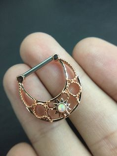 14G Rose Gold Tone Synthetic Opal Tribal Nipple Clicker - Nipple Ring, Nipple Shield, Nipple Piercing by GaugesPro on Etsy https://www.etsy.com/listing/280510906/14g-rose-gold-tone-synthetic-opal-tribal