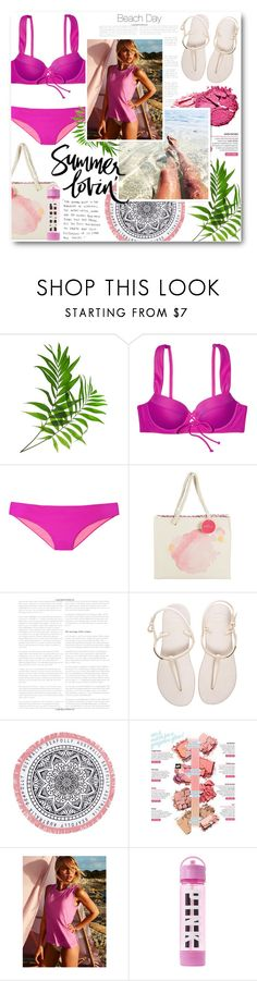 """""""Summer Lovin'"""" by katrinaalice ❤ liked on Polyvore featuring Victoria's Secret, Kate Aspen, Grace, Havaianas, tarte, Seafolly, Benefit, See by Chloé, November and Summer"""