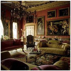 Sitting room at Downton Abbey