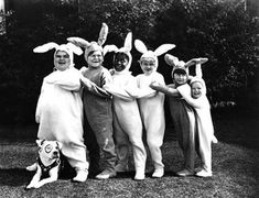 """Happy Easter from the """"Our Gang"""" gang.  I found this photo on the """"Found In Mom's Basement"""" blog. Please click the """"Visit"""" link in this pin to visit this great blog. #triciadaniels"""