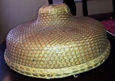 Vintage #asian #chinese #bamboo straw rice paddy hat,  View more on the LINK: http://www.zeppy.io/product/gb/2/222070917538/