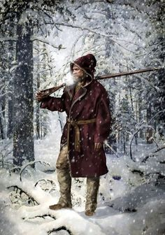 Movie, Revenant, set in early 1800s.Costuming the film's trappers required extensive research. Frontiersmen's journals and the Canadian park service were among the many sources used.