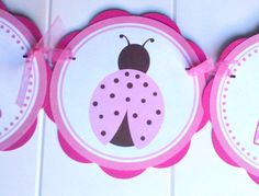 Ladybug IT'S A GIRL Baby Shower Banner