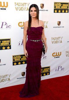 Fashion At The Critics' Choice Awards: Sandra Bullock