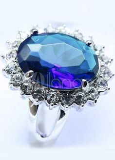 Gorgeous Synthetic Gemstone Engagement Ring For Princess Kate - Milanoo.com