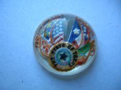 Vintage Glass Intaglio State of Texas