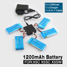 NEW Syma X5 X5C X5SW X5SC X6SW RC Quadcopter Battery 3.7V1200mAh Lipo Battery Spare Parts with 5 in1 cable♦️ B E S T Online Marketplace - SaleVenue ♦️👉🏿 http://www.salevenue.co.uk/products/new-syma-x5-x5c-x5sw-x5sc-x6sw-rc-quadcopter-battery-3-7v1200mah-lipo-battery-spare-parts-with-5-in1-cable/ US $21.99