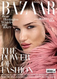Rosie Huntington Whiteley - Harper's Bazaar UK September 2014
