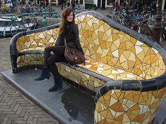 Mosaic bench Amsterdam