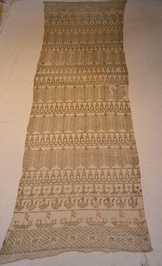 Vintage Art Deco Assuit Egyptian Coptic Shawl Tulle-bi-telli £175.00
