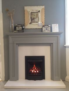 Image result for grey fire surround