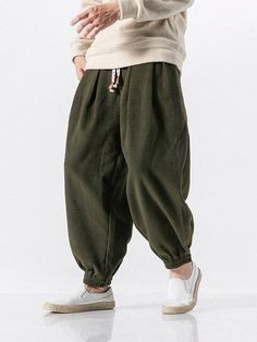 MOO Loose Fit Wool Jogger front pocketsSuitable for Islamic Clothing for MenWhen received the item will show Asian SizeEstimated Delivery from 10 to 21 days Mens Jogger Pants, Fitted Joggers, Cuffed Joggers, Harlem Pants, Baggy Clothes, Men Clothes, Joggers Outfit, Future Clothes, Mens Dress Pants