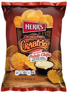 Herr's® Chickie's & Pete's Famous Crabfries seasoned Potato Chips (24) bags of 2.875 oz. per case  2 PHILLY FAVORITES HAVE COME TOGETHER