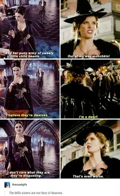 Regina + Zelena parallels