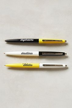 daydreams, deadlines, doodles pen set #anthrofave