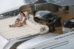 External view Pershing Yacht - Pershing 108' #yacht #luxury #ferretti #pershing