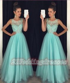 Cap Sleeves Long A-line Prom Dresses,Modest Evening Dresses http://21weddingdresses.storenvy.com/products/16445232-2016-newest-backless-long-beaded-prom-dresses-for-teens