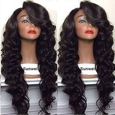 150 density virgin hair glueless full lace wig body deep wave lace front wig full lace human hair wig for black women u part wig Side Bangs Hairstyles, Loose Hairstyles, 100 Human Hair, Human Hair Wigs, Lace Front Wigs, Lace Wigs, Silk Base Wig, U Part Wig, Ombre Hair Extensions