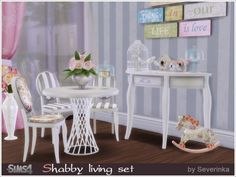 The Sims Resource: Shabby living set by Severinka • Sims 4 Downloads