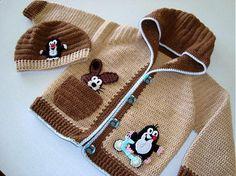 Feito à Mão Casaco com Bichinhos -  /   Handmade Jacket with Little Animals -