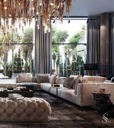 Indian Home Interior Slick modern living room Elegant Living Room, Elegant Home Decor, Elegant Homes, Modern Living, Modern Room, Luxury Homes Interior, Luxury Home Decor, Modern Interior, Interior Design Living Room