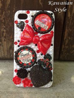 iPhone 4 Firefighters Wife Case by KawaiianStyle on Etsy, $30.00