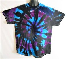 Trippy Tie Dye T Shirt// Psychedelic XL tie dye// Dark side of tie dye// festival// hippy// rave wear// colorful// unique gift//    ATX6 by FarmFreshTieDyeStore on Etsy
