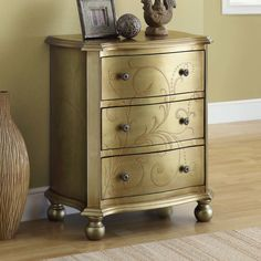 Monarch Specialties Inc. 3 Drawer Bombay Chest & Reviews | Wayfair