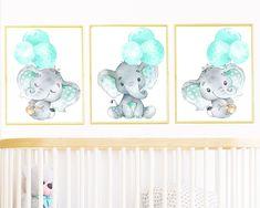 Gray Mint, Neutral nursery Poster Print, jungle animals bedroom wall art Kids Decor Baby Girl Boy Nursery Decoration Childrens Art set of 3 by irinnadesign on Etsy