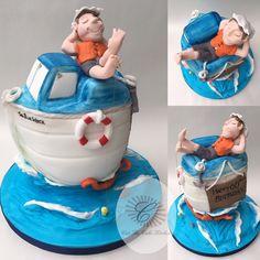 Boat Cake Cake By KiwiEatCake CAKES PLAYABRISA Y MAR - Fishing boat birthday cake