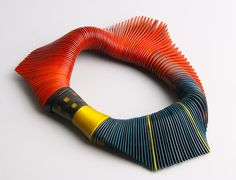 Necklace | Liv Blavarp of Norway is a master woodworker, creating one of a kind sculpture to wear necklaces/collars.