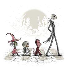 Halloween Road - TeeFury - Jack the Pumpkin King Nightmare Before Christmas NB4C NB4Xmas Lock Shock and Barrel