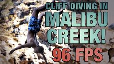 CLIFF DIVING IN MALIBU | Panasonic GH4's 96fps Slow motion #Videography