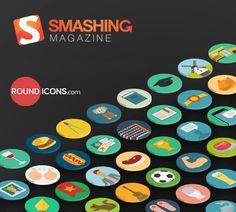 Freebies on Smashing Magazine Web Design, Graphic Design Tutorials, Icon Design, Design Projects, Flat Design, Design Ideas, Android App Icon, Simple Icon, Ui Kit