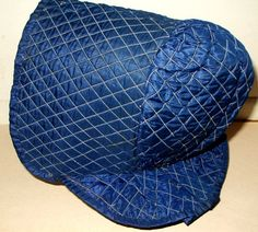 Antique  Original Civil War 1860 Child's Silk Taffeta Quilted Bonnet