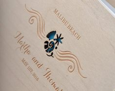 Beach Wedding Guestbook,  Destination Guestbook, Starfish Guestbook , Custom colors guestbook, Rustic guestbook
