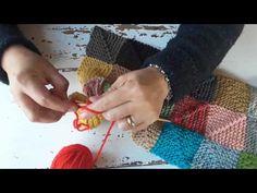 Parte 3# cuadrados a dos agujas - YouTube