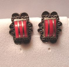 Vintage Mexican Sterling Deco Red Stone Dome by artfuloldies, $38.00