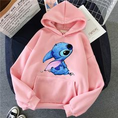Cute Disney Outfits, Cute Lazy Outfits, Teenage Outfits, Teen Fashion Outfits, Trendy Outfits, Cool Outfits, Trendy Clothes For Women, Fashion Dresses, Lilo And Stitch Hoodie