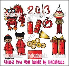 2013 Chinese New Year bundle product from Melonheadz-Illustrations on TeachersNotebook.com