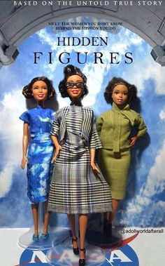 Our Sorors from Hidden Figures are dolls! Barbie dolls that is😍🤑💖💚 Katherine Johnson, Alpha Kappa Alpha Sorority, Aka Sorority, Hidden Figures, Action Figures, African American Dolls, American Women, Black Pride, Black Barbie
