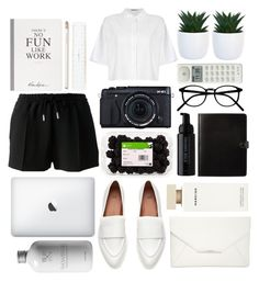 """- There's No Fun Like Work -"" by farahhind ❤ liked on Polyvore featuring Josie Maran, Fujifilm, Givenchy, Style & Co., Narciso Rodriguez, Selfridges, T By Alexander Wang, Punkt. and Kate Spade"