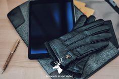 Touchscreen Leather Gloves by Schwartz & von Halen