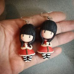 Gorjuss inspired earrings by Ruby creations