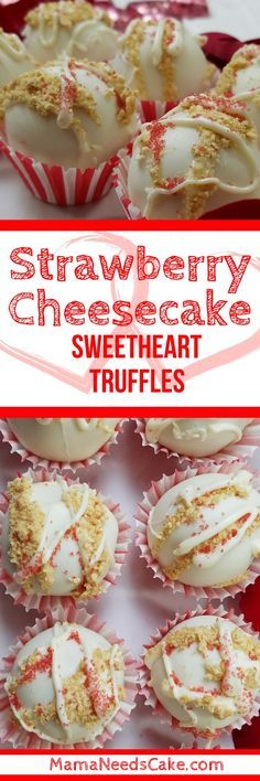 Strawberry Cheesecake Sweetheart Truffles Recipe (Video Tutorial) - I especially like to make a big batch of truffles to give for Valentine's Day