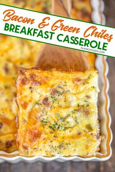 Bacon Bacon Egg And Cheese Casserole, Green Chile Egg Casserole, Breakfast Egg Casserole, Brunch Casserole, Casserole Recipes, Smoked Gouda Grits Recipe, Fruit Salad With Cream, Cottage Cheese Breakfast, Easy Brunch Recipes